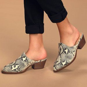 Chinese Laundry | NWT Catherin Snake Mules